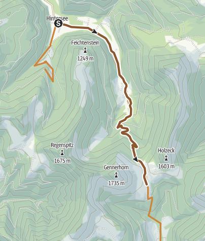 Karte / Genner-Alm