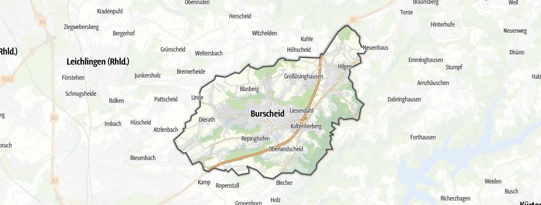 Mapa / Poutě v oblasti Burscheid
