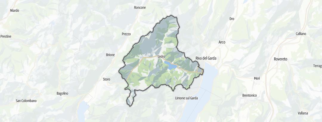 Mapa / Rodinná dovolená v oblasti Ledro