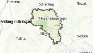 Mapa / Schwarzwald-Baar-Kreis