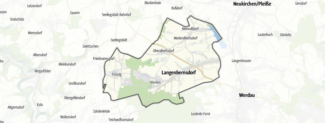 Map / Horse carriage rides in Langenbernsdorf