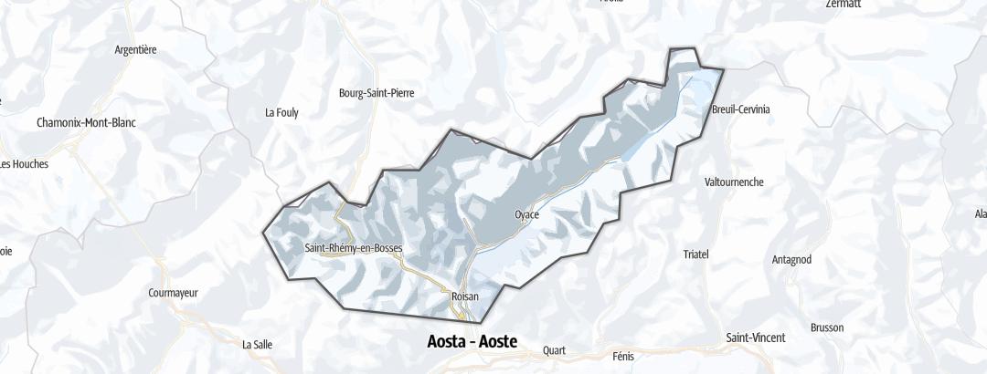 Mapa / Rotas de Ski Livre  em Großer Sankt Bernhard