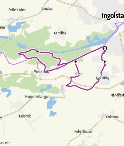 Karte /  14. Juli 2015 Ingoradler Tour zum Vogelsang Weichering