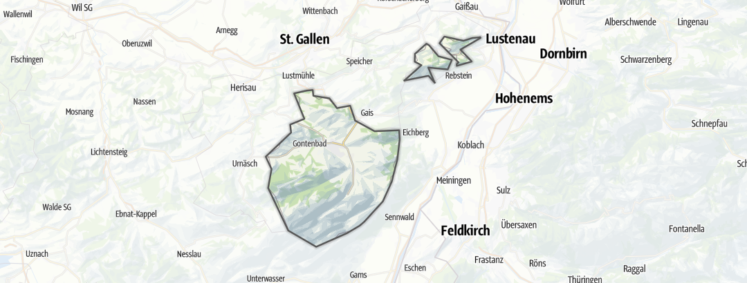 Map / Accommodation in Appenzell Inner Rhodes