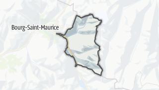 Map / Sainte-Foy-Tarentaise