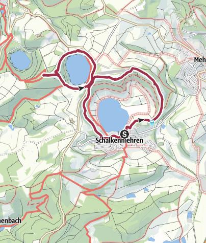 Karte / Die Dauner Maare - Drei Maare auf einen Streich