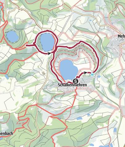 Eifel Karte Pdf.Die Dauner Maare Drei Maare Auf Einen Streich Wanderung
