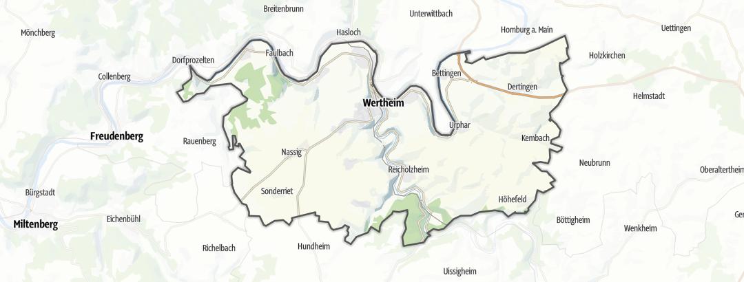 Kart / Vandring i Wertheim