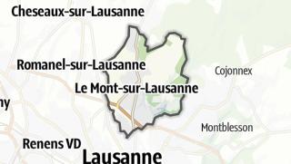 Карта / Le Mont-sur-Lausanne
