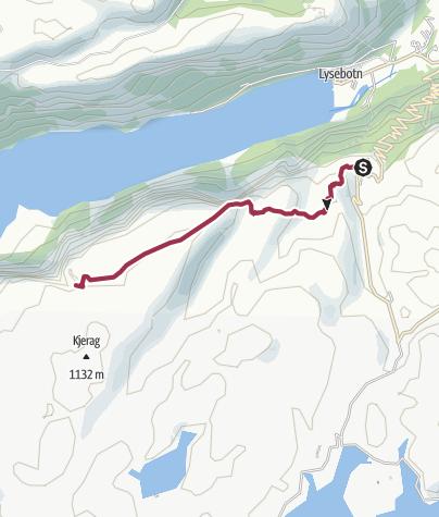 Karte / Kjeragbolten