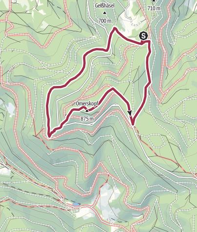 Karte / Schönbrunner Hütte: Kurze Omerskopf-Runde