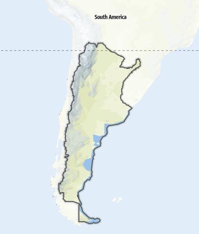 Karte / Argentinien