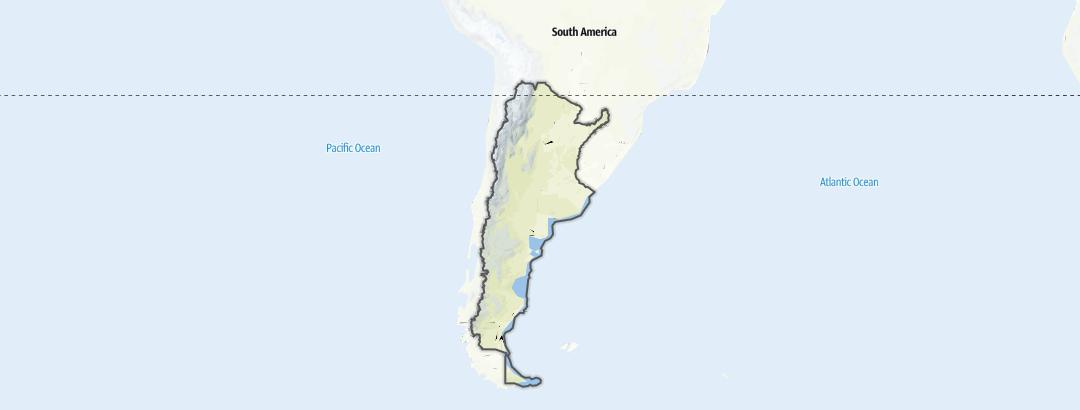 Karte / Wanderungen in Argentinien
