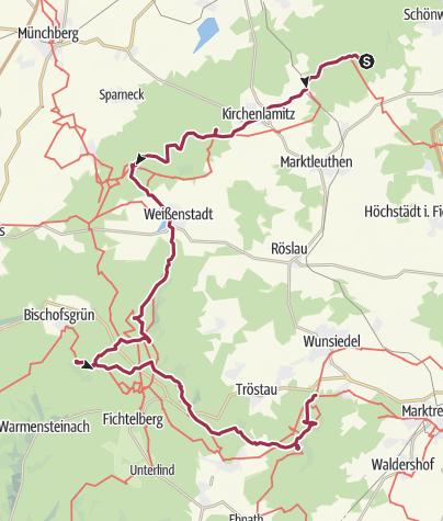 Karte / 12 Gipfel - Tour im Fichtelgebirge