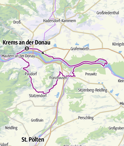 Karte / Krems-Altenwörth-Traismauer-Inzersdorf-Paudorf-Furth-Mautern-Krems