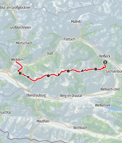 Karte / Hüttentour Kreuzeck-Höhenweg