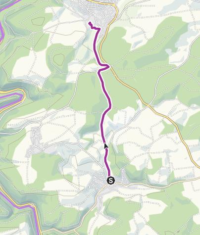 Mapa / Mit dem Rad von Gültlingen zum MvLG