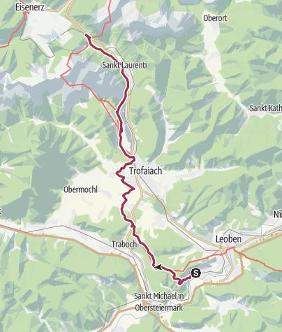 Karte / 1 Auf dem Weg nach Mariazell über den Hochschwab Teil 1  (4)