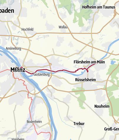 Karte / Von Mainz nach Raunheim
