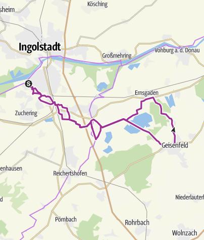 Karte /  28. Juli 2015 Ingoradlertour nach Geisenfeld