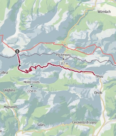 Karte / Karnischer Höhenweg - 7 Timau