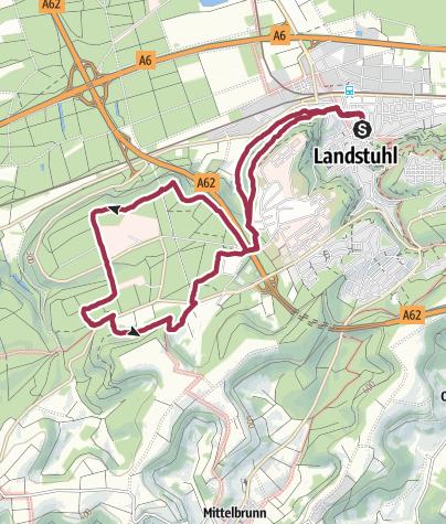 Karte / Wanderweg L4 Sickingenstadt Landstuhl