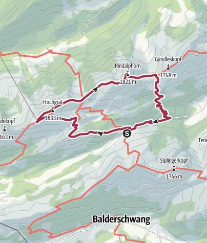 Map / Hochgrat & Rindalphorn