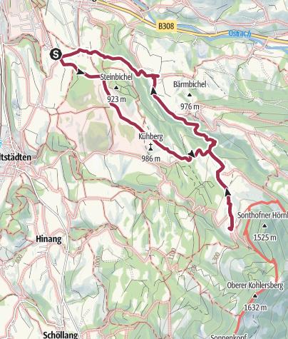 Karte / Hofen - Altstädter Hof - Löwenbachtobel