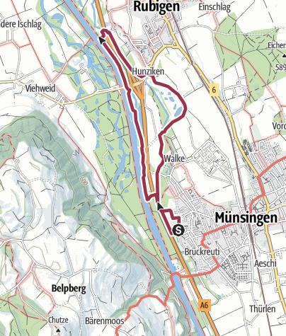 Karte / DogWalk Fischzucht-Cheer (Münsingen - Rubigen)