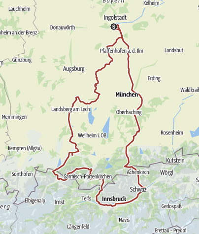 Karte /  5. August 2015 Rollertour nach Reuthe - Tirol
