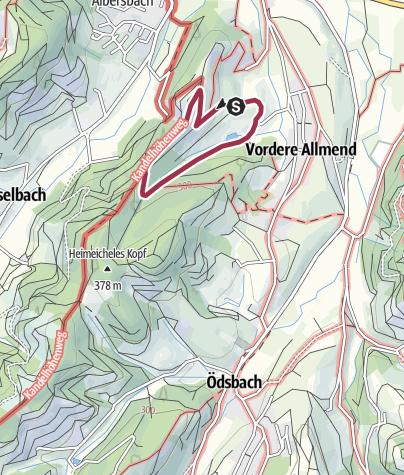 Karte / Hofroute Hofgut Heuberg