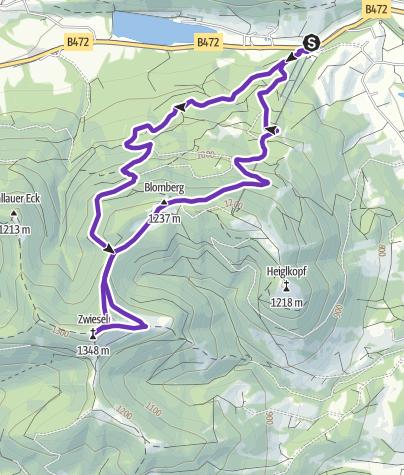 Karte / Tourenplanung am 6. August 2015