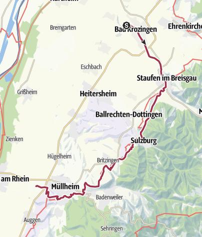 Karte / Bad Krozingen - Wiiwegli - Müllheim