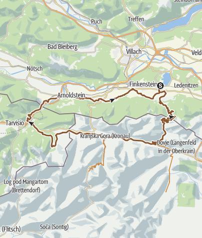 Karte / ÖSTERREICHISCHE SEITE FREI BAEFAHRBAR! Mountainbike Tour 3 - 3 Länder Runde (AB SLOWENIEN GESPERRT)