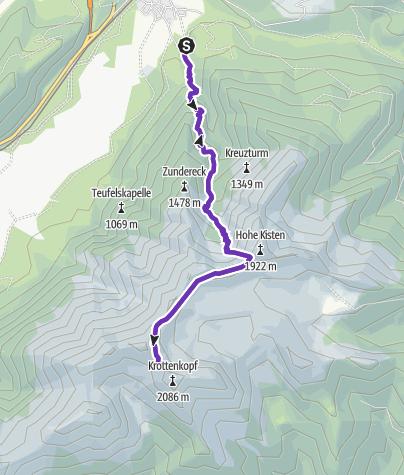 Karte / Tourenplanung am 7. August 2015