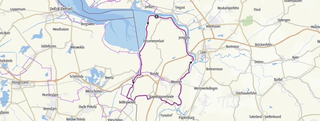 Map / Ditzum - Ems  Rundtour