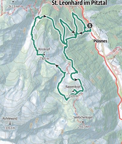 Pitztal Karte.Tour Zum Aussichtsbalkon über Dem Pitztal Dem Rappenkopf Bergtour