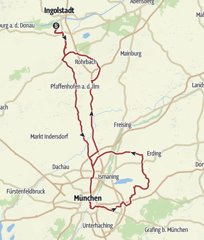 Karte /  12. August 2015 Rollertour nach München ins Deutsche Mueum