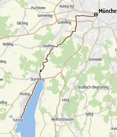Karte / München Barthstr. 16 - Tutzing Nordbad
