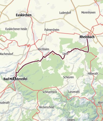 Karte / Weg der Deutschen Einheit 5. Etappe