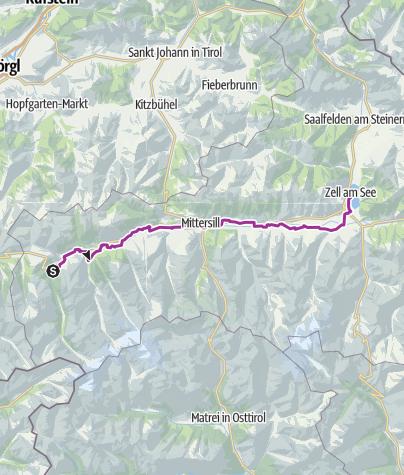 地图 / Krimml to Zell am See, August 25, 2015