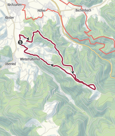 Karte / DEU - Wanderung - Hinterwaldkopf