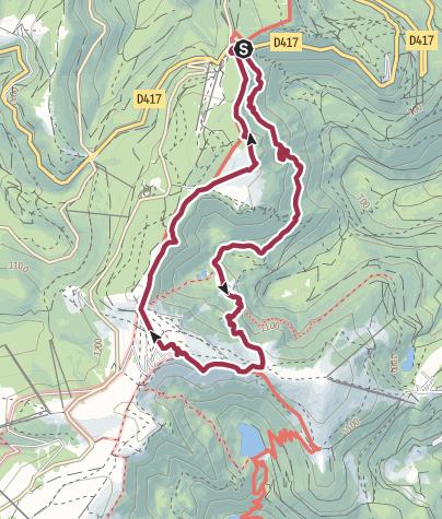 Karte / FRA - Wanderung - Col de la Schlucht