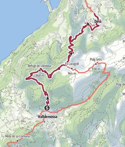 Karte / ESP - Wanderung - GR221 (01) Von Valldemossa nach Deyá