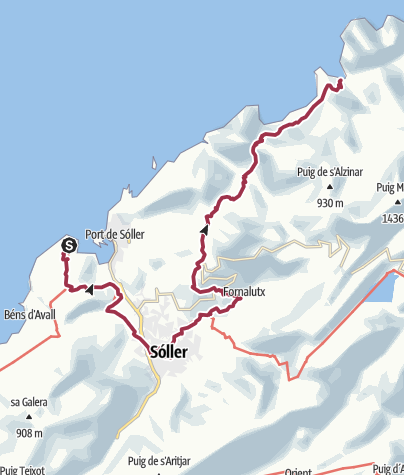 Map / ESP - Wanderung - GR221 (03) Von Sa Calobra nach Sóller