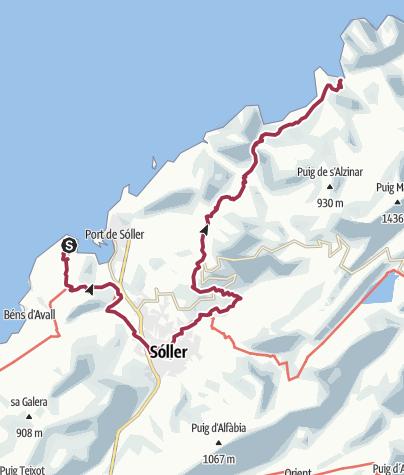מפה / ESP - Wanderung - GR221 (03) Von Sa Calobra nach Sóller