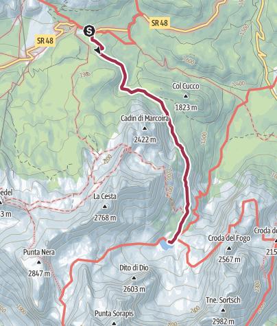 Karte / Lago di Sorapis (Cortina d' Ampezzo)