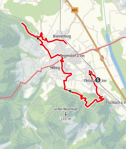 Karte / Flintsbach - Brannenburg