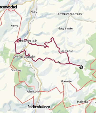 Karte / Gerbach - Ruine Randegg über die Höfe...