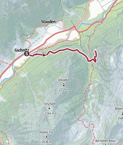 Karte / St. Magdalena im Gschnitztal